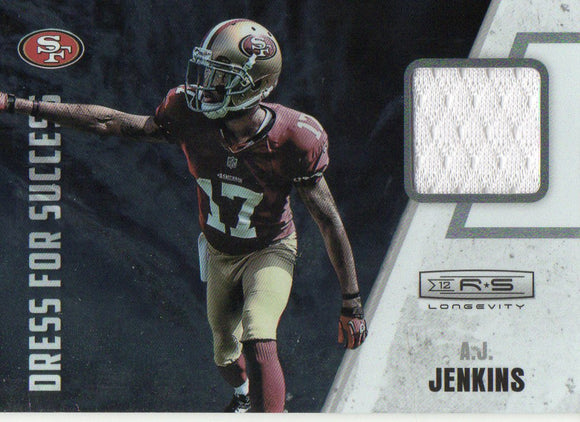 2012 Rookies Stars AJ Jenkins Dress For Success Jersey Card 49ers - JM Collectibles