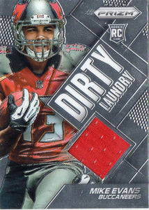 2014 Panini Prizm Dirty Laundry Mike Evans Jersey Card Tampa Bay Buccaneers - JM Collectibles