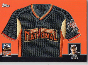 2008 Topps All-Star Game Jose Reyes Manufactured Relic Patch Card #D/499 - JM Collectibles