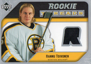 2005-06 Upper Deck Hannu Toivonen Rookie Threads Jersey Card Boston Bruins - JM Collectibles