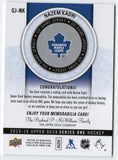 2015-16 Upper Deck Nazem Kadri Game Used Jersey Card Toronto Maple Leafs - JM Collectibles