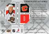 2009-10 Black Diamond Jay Bouwmeester Quad Jersey Card Florida Panthers - JM Collectibles