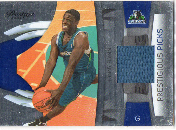 2009-10 Prestige Jonny Flynn Prestigious Picks Jersey Card Timberwolves - JM Collectibles