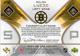 2007-08 Spx Milan Lucic Dual Jersey Autograph Card #D/999 Boston Bruins - JM Collectibles