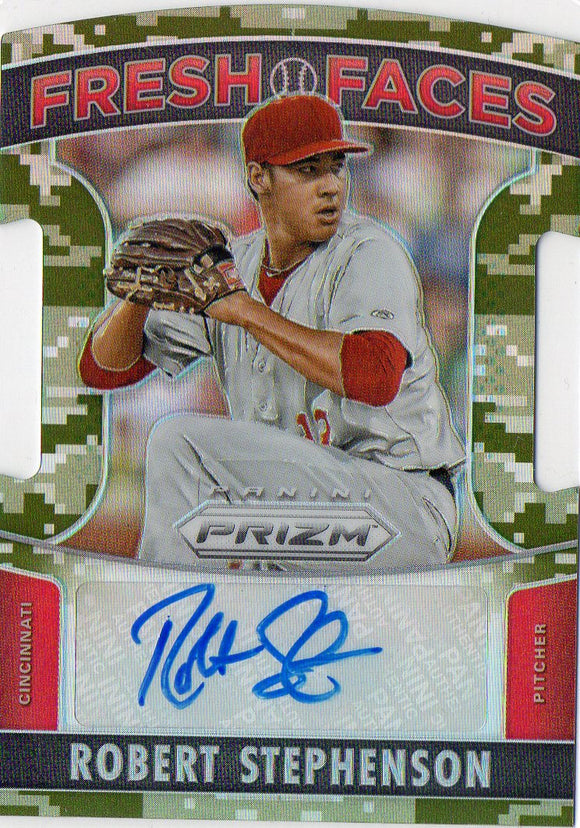 2015 Panini Prizm Fresh Faces Camo Prizms Robert Stephenson Autograph #D/199 - JM Collectibles
