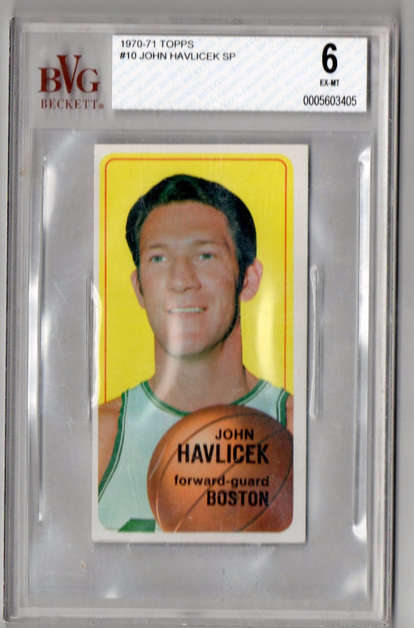 1970-71 Topps John Havlicek SP Graded BVG 6 Boston Celtics - JM Collectibles