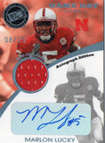 2009 Press Pass SE Marlon Lucky Auto/Jersey Card #D/25 Cincinnati Bengals - JM Collectibles