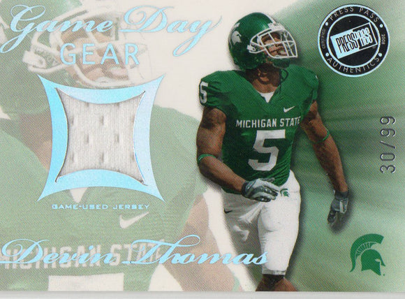 2008 Press Pass SE Devin Thomas Game Used Jersey Card #D/99 Washington Redskins - JM Collectibles