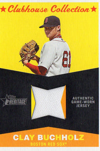 2009 Topps Heritage Clay Buchholz Game Worn Jersey Boston Red Sox - JM Collectibles