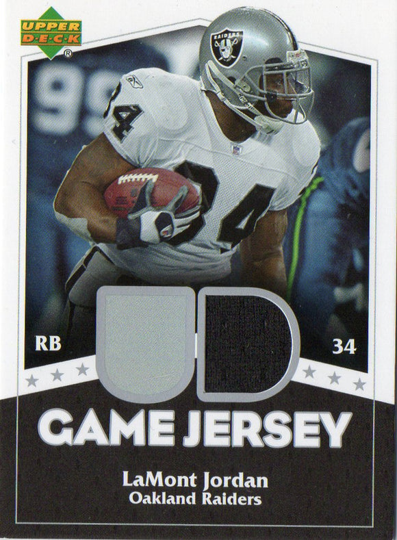 2007 Upper Deck LaMont Jordan Game Jersey Oakland Raiders - JM Collectibles