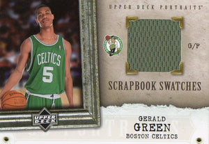 2005-06 Upper Deck Gerald Green Scrapbook Swatches Jersey Card Boston Celtics - JM Collectibles