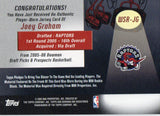 2005-06 Bowman Draft Picks Joey Graham Game Worn Jersey Toronto Raptors - JM Collectibles