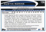2012 Topps Chrome Austin Romine Rookie Autograph Card New York Yankees - JM Collectibles