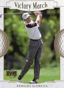 2001 Upper Deck Sergio Garcia Rookie Victory March Golf Card Masters Champion - JM Collectibles