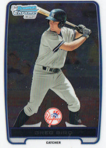 2012 Bowman Chrome Greg Bird Rookie Card New York Yankees - JM Collectibles