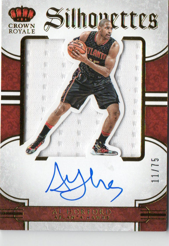 2015-16 Crown Royale Silhouettes Al Horford Jersey/Autograph /75 Boston Celtics - JM Collectibles