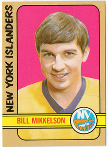 1972 Topps Bill Mikkelson New York Islanders - JM Collectibles