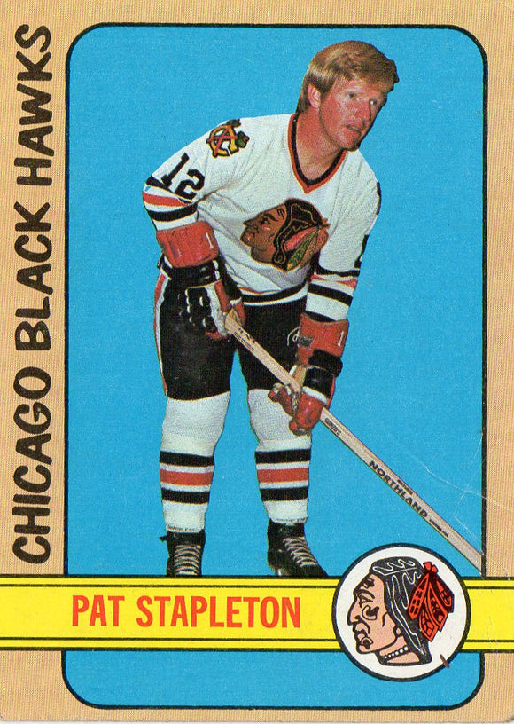 1972 Topps Pat Stapleton Chicago Black Hawks - JM Collectibles
