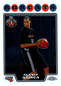 2008 Topps Chrome Alexis Ajinca Rookie Card Charlotte Bobcats - JM Collectibles