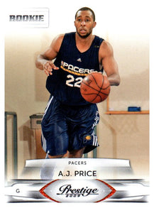 2009 Prestige A.J. Price Rookie Card Indiana Pacers - JM Collectibles