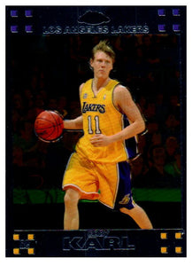 2007-08 Topps Chrome Coby Karl Rookie Card Los Angeles Lakers - JM Collectibles