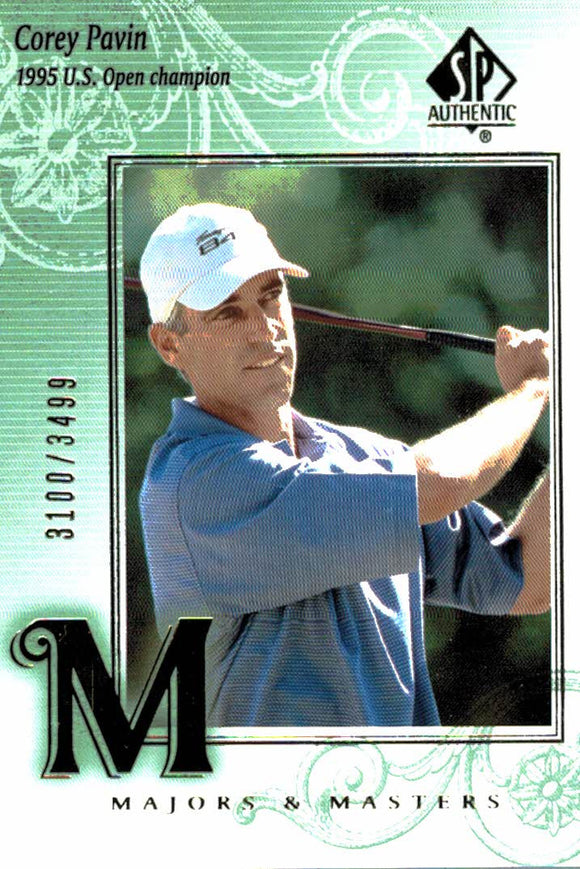 2002 SP Authentic Corey Pavin Majors & Masters /3499 Golf Card - JM Collectibles