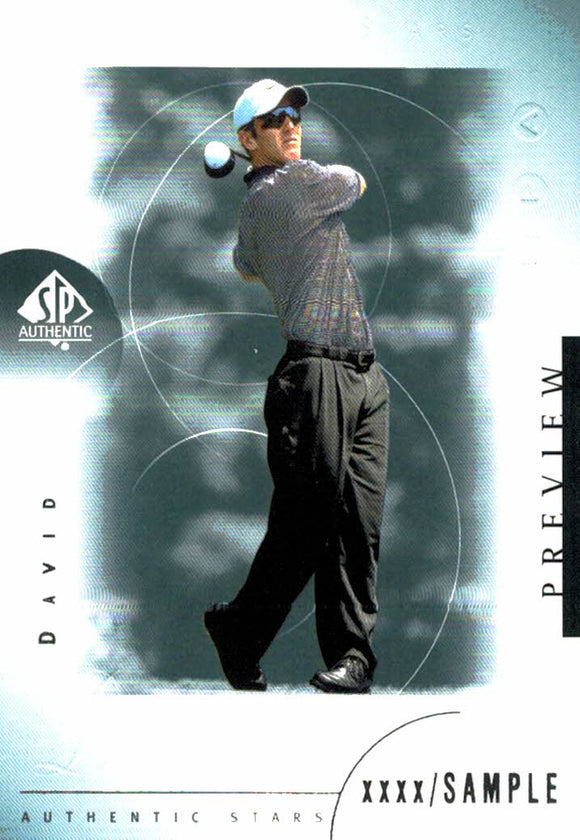 2001 Upper Deck David Duval Preview Golf Card - JM Collectibles