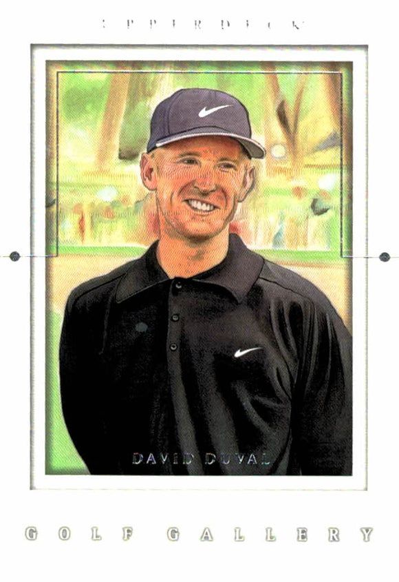 2001 Upper Deck David Duval Golf Gallery Card - JM Collectibles