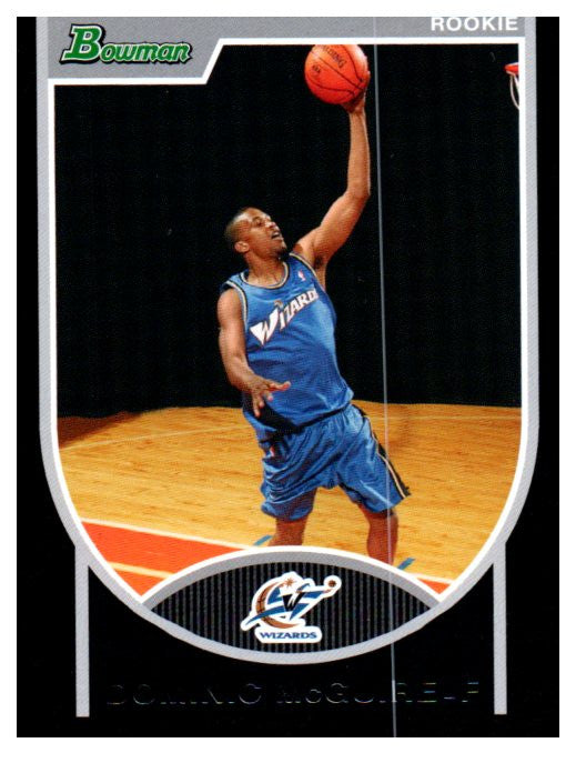 2007-08 Bowman Draft Dominic McGuire Washington Wizards #/2999 - JM Collectibles
