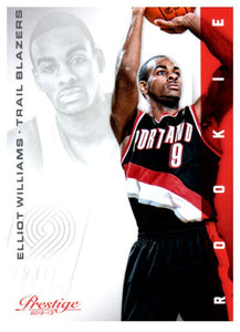 2012-13 Prestige Elliot Williams Rookie Card Portland Trail Blazers - JM Collectibles