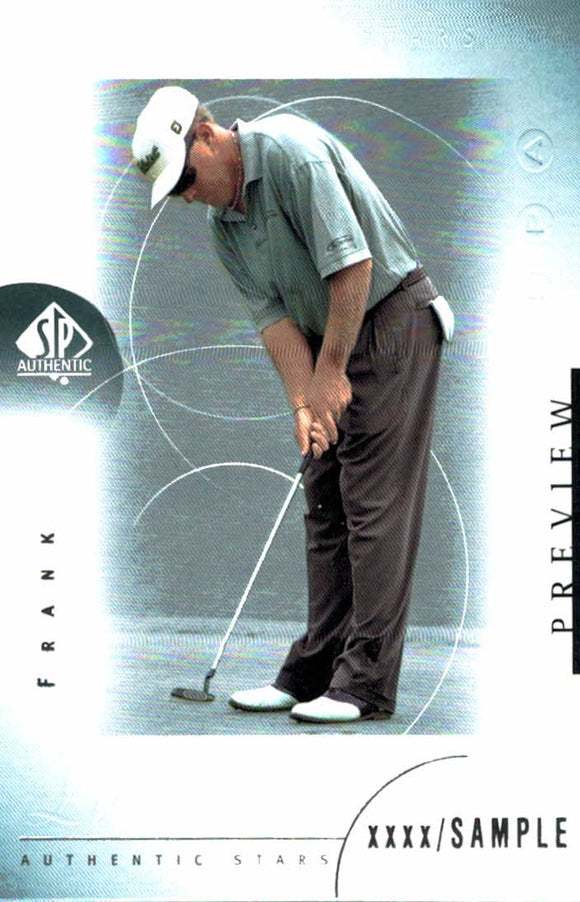 2001 Upper Deck Frank Lickliter Preview Golf Card - JM Collectibles