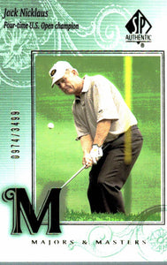 2002 SP Authentic Jack Nicklaus Majors & Masters /3499 Golf Card - JM Collectibles