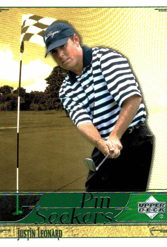 2002 Upper Deck Justin Leonard Pin Seekers Golf Card - JM Collectibles