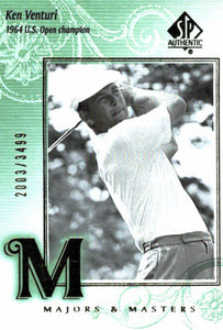 2002 SP Authentic Ken Venturi Majors & Masters /3499 Golf Card - JM Collectibles