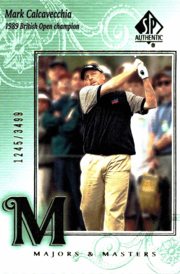 2002 SP Authentic Mark Calcavecchia Majors & Masters /3499 Golf Card - JM Collectibles