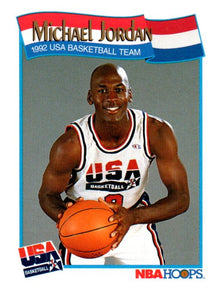 1991-92 NBA Hoops Michael Jordan USA Chicago Bulls - JM Collectibles