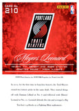 2012-13 Prestige Meyers Leonard Rookie Card Portland Trail Blazers - JM Collectibles