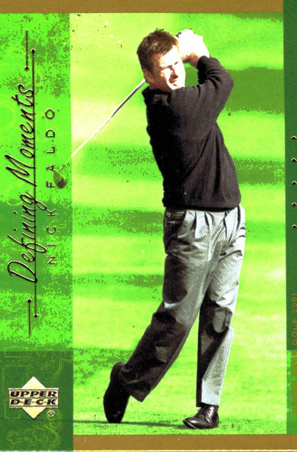 2001 Upper Deck Nick Faldo Defining Moments Golf Card - JM Collectibles