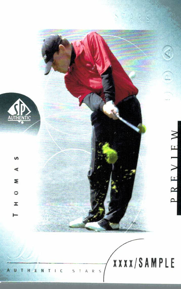 2001 Upper Deck Thomas Bjorn Preview Golf Card - JM Collectibles