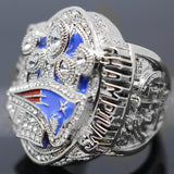 2016 New England Patriots Super Bowl 51 Championship Ring 18K White Gold Plated - JM Collectibles