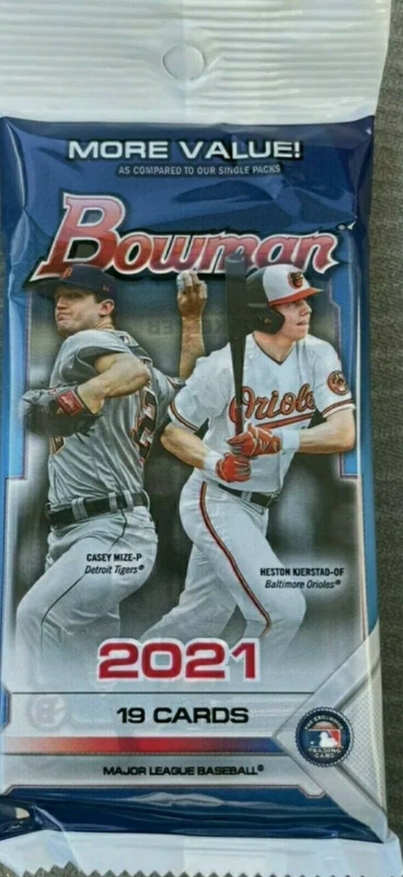2021 Bowman Baseball Cello Value Fat Pack Walmart
