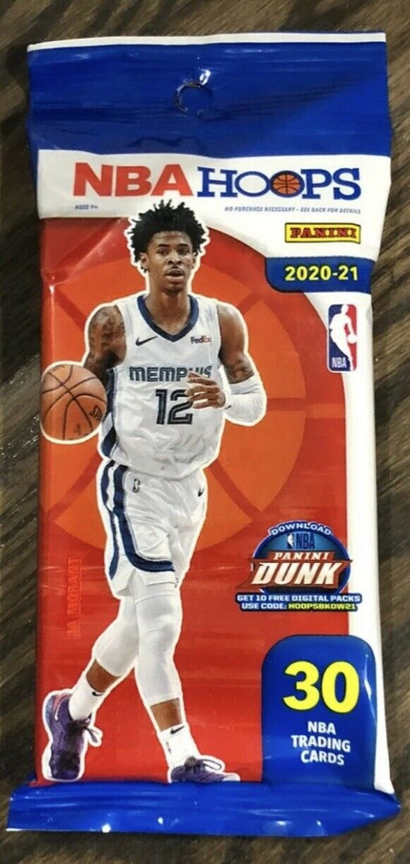 2020-21 Panini NBA Hoops Factory Sealed Cello Fat Packs Lamelo Ball Rookie