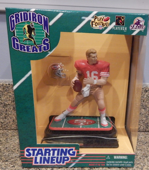 1997 Starting Line Up Gridiron Greats Joe Montana San Francisco 49ers