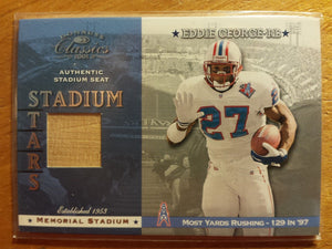2001 Donruss Classics Stadium Stars Authentic Stadium Seat Eddie George Houston