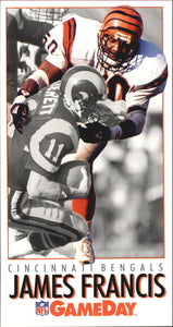 1992 NFL Gameday James Francis Cincinnati Bengals