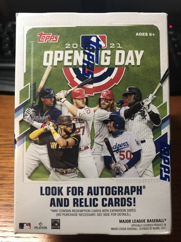 2021 Topps Opening Day Baseball Blaster Box Factory Sealed