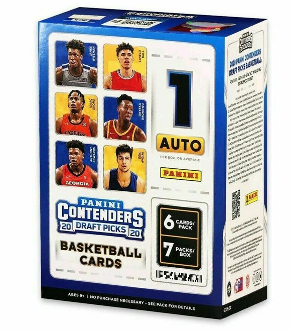2020 Panini Contenders Draft Picks Basketball Blaster Box