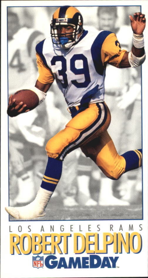 1992 NFL Gameday Robert Delpino Los Angeles Rams