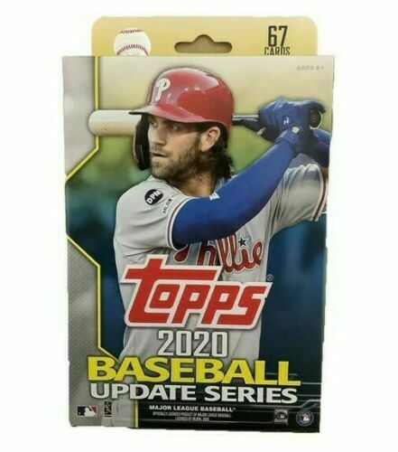 2020 Topps Baseball Update Series Unopened Hanger Box 67 Cards Per Box Target