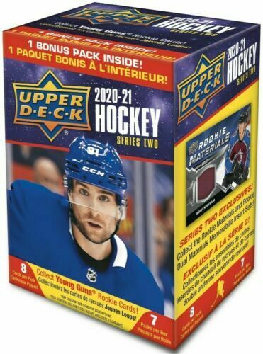 2020-21 Upper Deck Series 2 Hockey NHL Blaster Box Sealed Young Guns